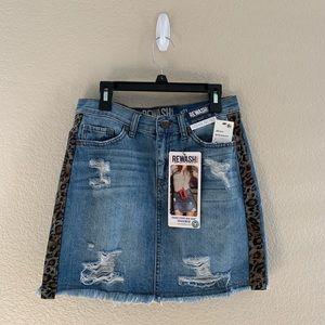 denim skirt from rewash